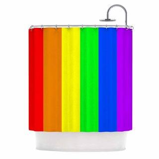 KESS InHouse Bruce Stanfield 'Rainbow' Shower Curtain (69x70)