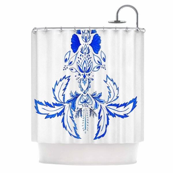 KESS InHouse Cecilia Burgues 'Azulejo' Shower Curtain (69x70)