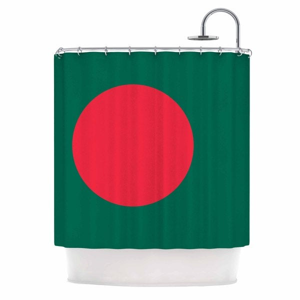 KESS InHouse Bruce Stanfield 'Flag Of Bangladesh' Shower Curtain (69x70)