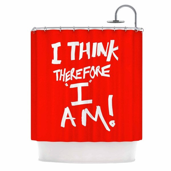 KESS InHouse Bruce Stanfield 'I Think Therefore I Am' Shower Curtain (69x70)