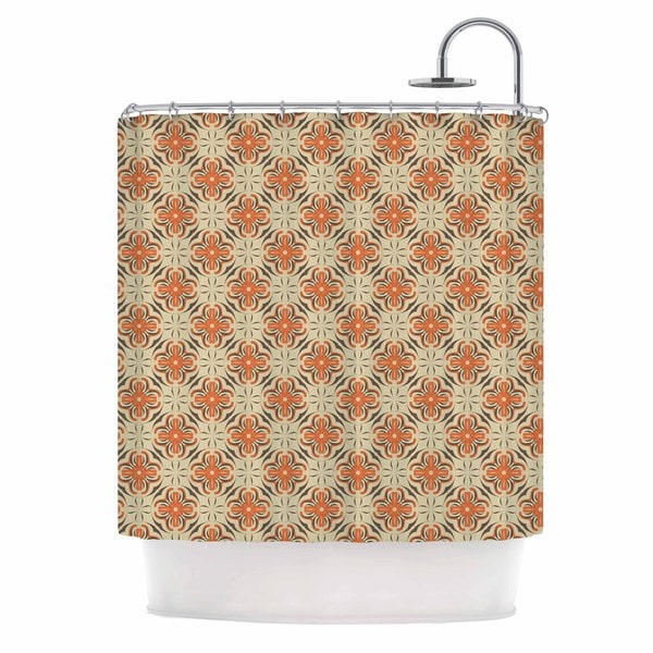 KESS InHouse Mayacoa Studio 'Geometric Tile' Shower Curtain (69x70)
