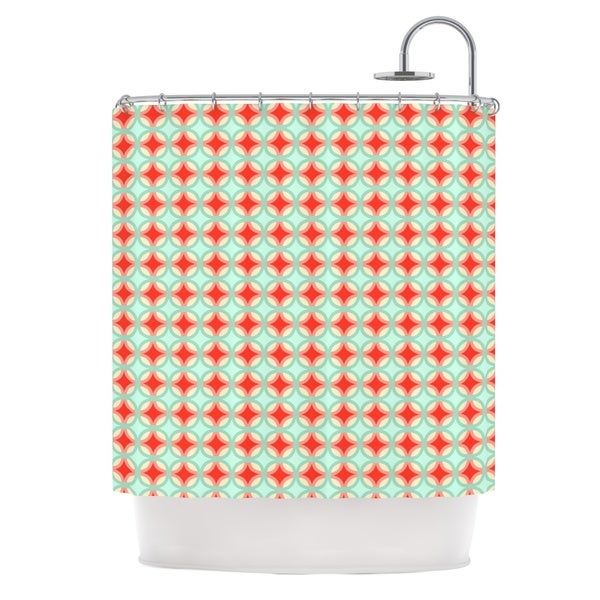 KESS InHouse Catherine McDonald 'Retro Circles' Shower Curtain (69x70)