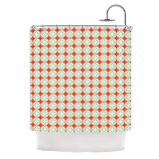 KESS InHouse Catherine McDonald 'Retro Circles' Shower Curtain (69x70)
