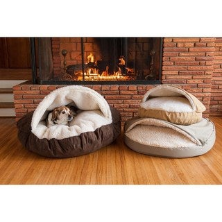 Snoozer Orthopedic Luxury Micro Suede Cozy Cave Pet Bed