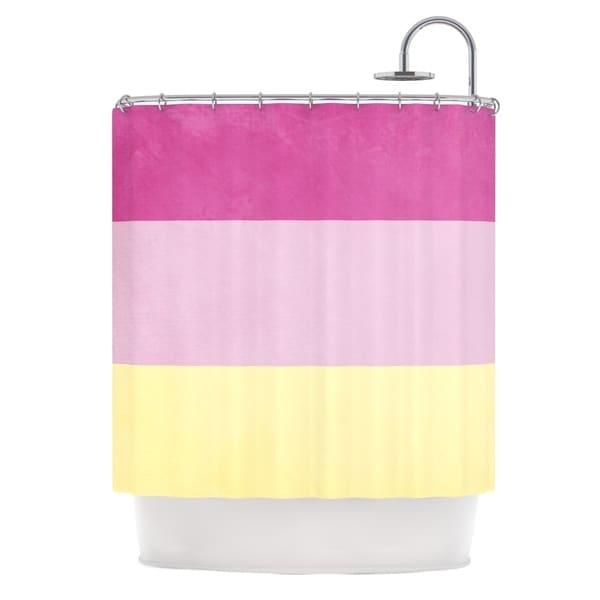 KESS InHouse Catherine McDonald 'Color Block Purple' Shower Curtain (69x70)