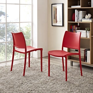 Modway Hipster Plastic Dining Chair (Set of 2)
