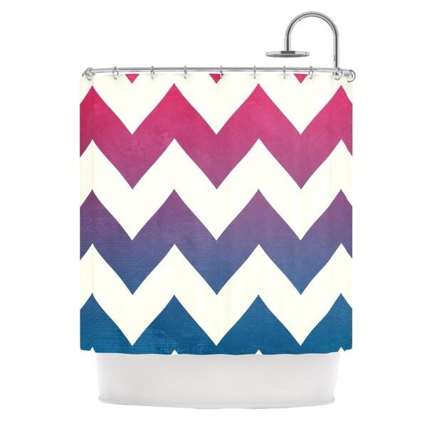 KESS InHouse Catherine McDonald 'Fade to Blue' Shower Curtain (69x70)