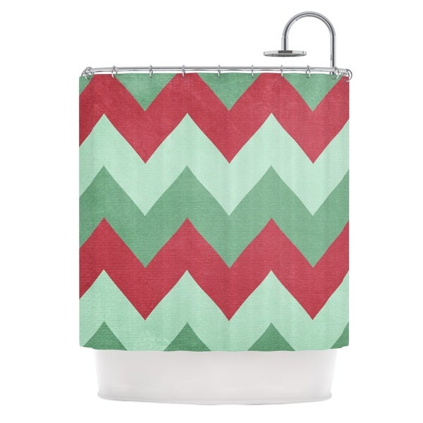 KESS InHouse Catherine McDonald 'Holiday Chevrons' Shower Curtain (69x70) - 69 x 70