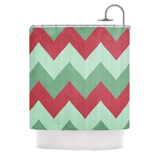 KESS InHouse Catherine McDonald 'Holiday Chevrons' Shower Curtain (69x70)
