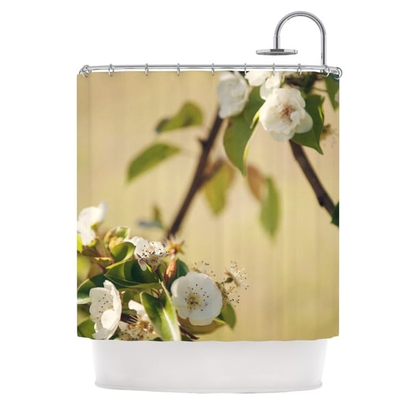 KESS InHouse Catherine McDonald 'Pear Blossom' Shower Curtain (69x70)
