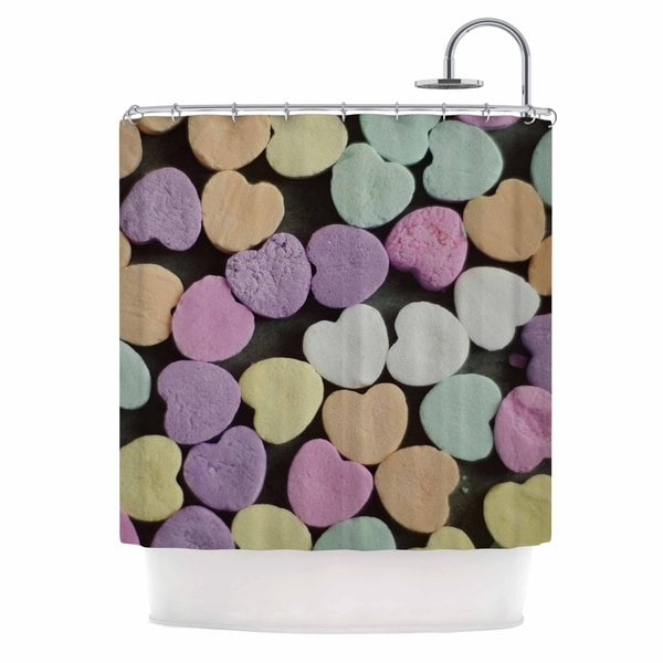 KESS InHouse Cristina Mitchell 'Candy Love' Shower Curtain (69x70)