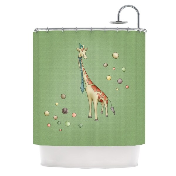 KESS InHouse Carina Povarchik 'Giraffe' Shower Curtain (69x70)