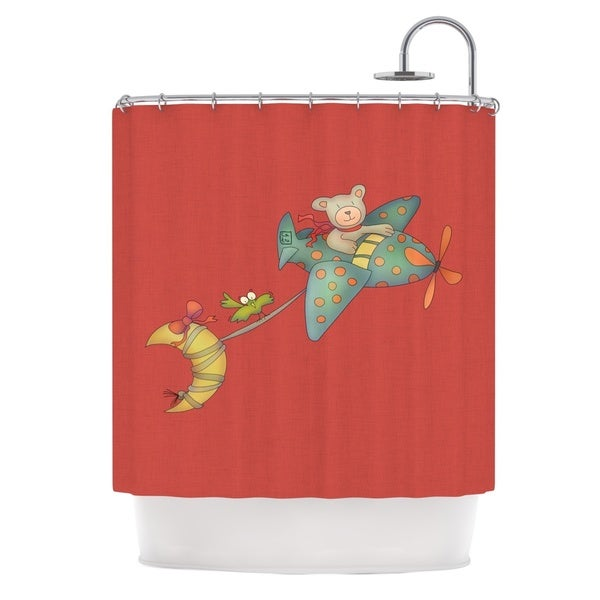 KESS InHouse Carina Povarchik 'I Will Bring You The Moon' Shower Curtain (69x70)