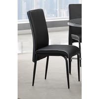 Athena Black Metal and Vinyl Dining Room Chair (Set of Four)