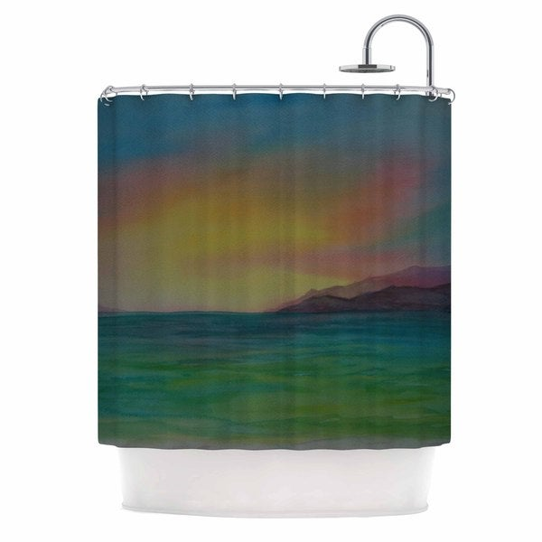 KESS InHouse Cyndi Steen 'Christy's Island' Shower Curtain (69x70)