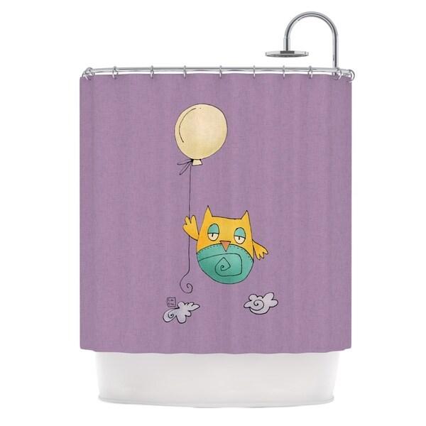 KESS InHouse Carina Povarchik 'Lechuzita en Ballon' Shower Curtain (69x70)