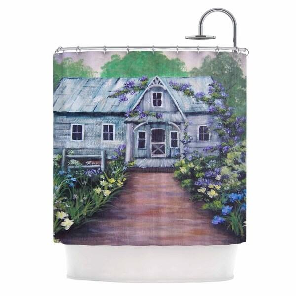 KESS InHouse Cyndi Steen 'Ivy Cottage Again' Shower Curtain (69x70)