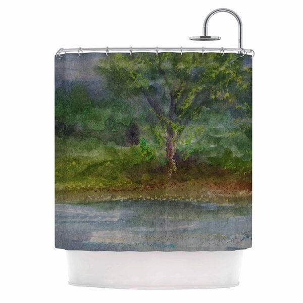 KESS InHouse Cyndi Steen 'Storm On The Pond' Shower Curtain (69x70)