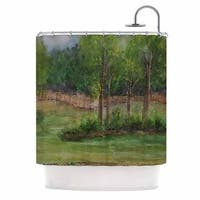 KESS InHouse Cyndi Steen 'A Storm At The Strand' Shower Curtain (69x70)
