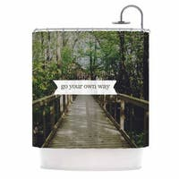 KESS InHouse Chelsea Victoria 'Go Your Own Way' Shower Curtain (69x70)