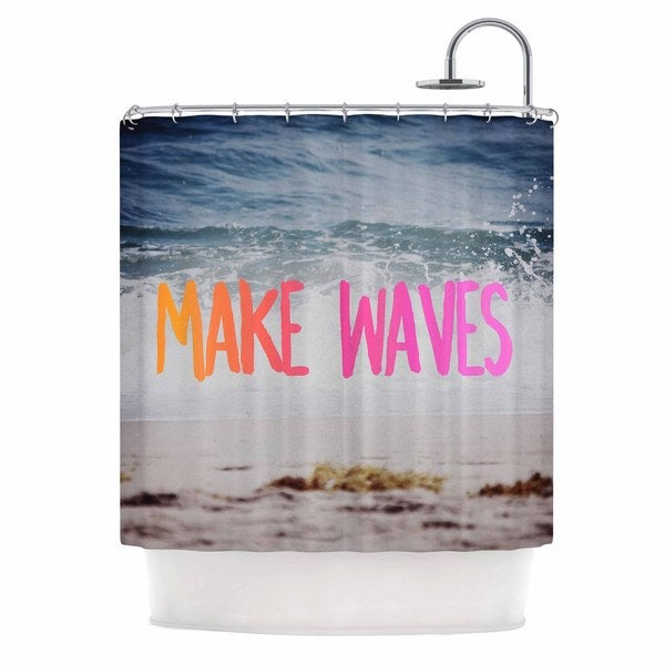 KESS InHouse Chelsea Victoria 'Make Waves' Shower Curtain (69x70)