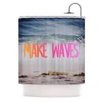 KESS InHouse Chelsea Victoria 'Make Waves' Shower Curtain (69x70)