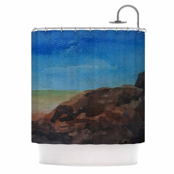KESS InHouse Cyndi Steen 'Beach Rocks' Shower Curtain (69x70)