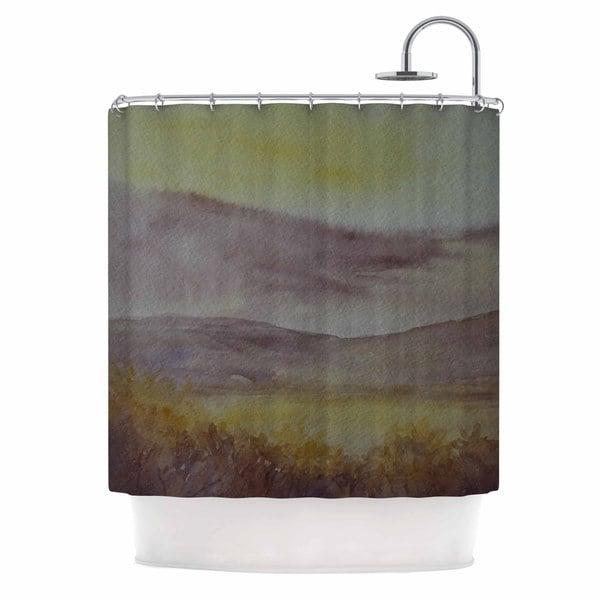 KESS InHouse Cyndi Steen 'Mauve Sunset' Shower Curtain (69x70)
