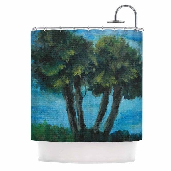 KESS InHouse Cyndi Steen 'Twin Palms' Shower Curtain (69x70)