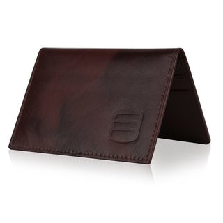 Suvelle Men's Leather Slim RFID Card Holder With ID Pocket Wallet Case