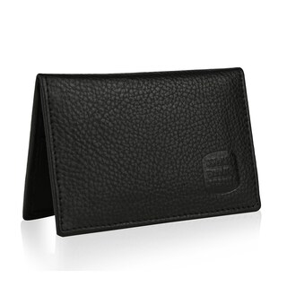 Suvelle WR100 Men's Slim Leather RFID Card Thin Minimalist Front Pocket Wallet - S (2 options available)