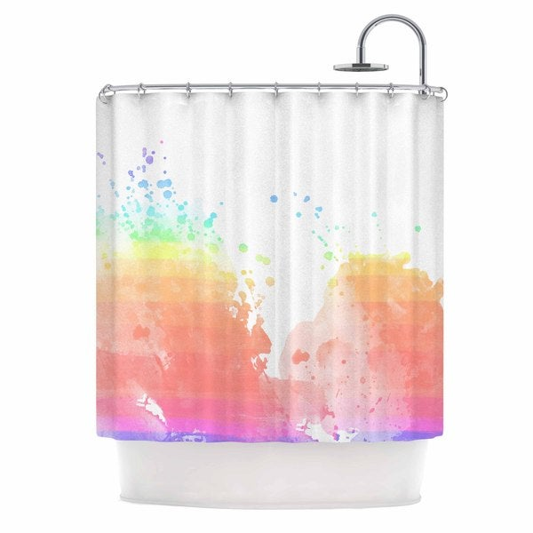 KESS InHouse Chelsea Victoria 'Color Splatter' Shower Curtain (69x70)