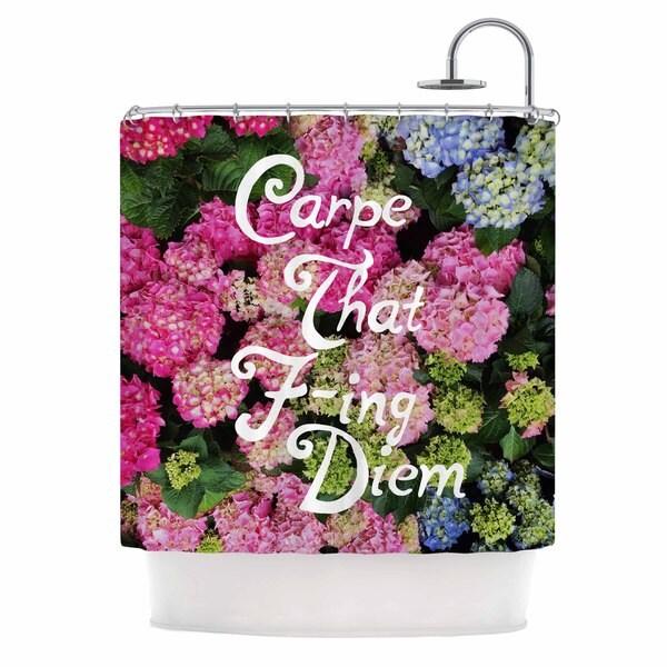 KESS InHouse Chelsea Victoria 'Carpe That F-Ing Diem' Shower Curtain (69x70)