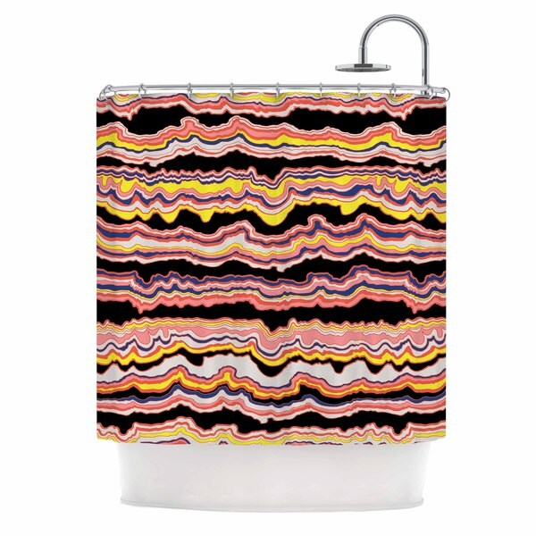 KESS InHouse DLKG Design 'Expressive Lines' Shower Curtain (69x70)