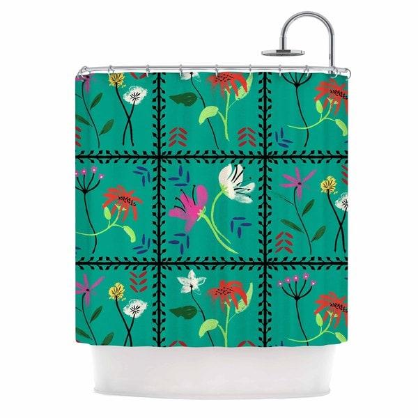 KESS InHouse DLKG Design 'Simple Garden Tiles' Shower Curtain (69x70)
