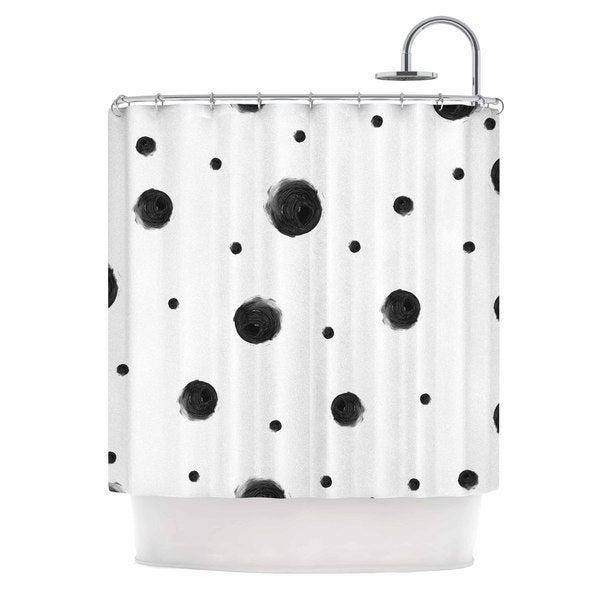 KESS InHouse Chelsea Victoria 'Black Dots' Shower Curtain (69x70)