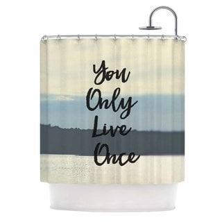 KESS InHouse Debbra Obertanec 'YOLO' Shower Curtain (69x70)