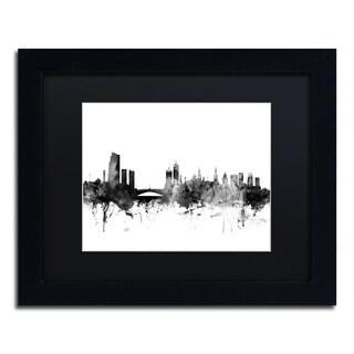 Michael Tompsett 'Leeds England Skyline B&W' Matted Framed Art
