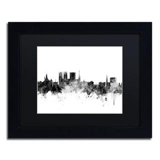 Michael Tompsett 'York England Skyline B&W' Matted Framed Art