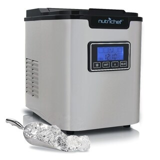 NutriChef PICEM62 Digital Countertop 3 Cube Sizes Ice Cube Maker Machine