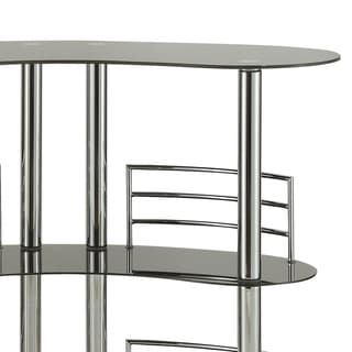 Moser Bay Furniture Nickel Chrome and Glass Beverage Bar Table