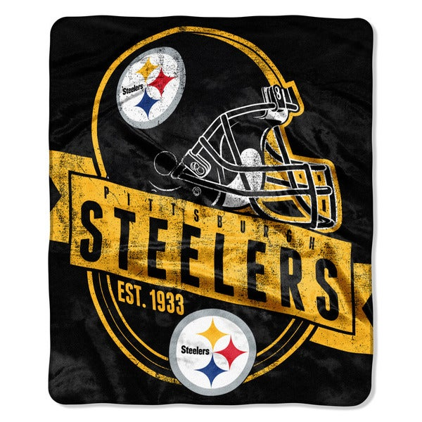 NFL 708 Steelers Grand Stand Raschel Throw