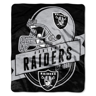 NFL 708 Raiders Grand Stand Raschel Throw