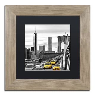 Philippe Hugonnard 'Taxis in New York' Matted Framed Art