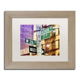 Philippe Hugonnard 'Fashion Avenue New York' Matted Framed Art