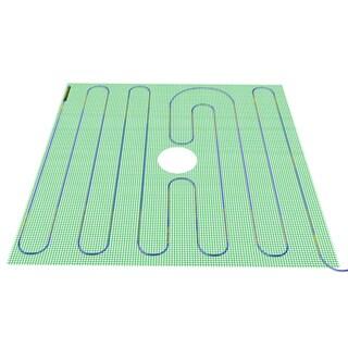 Tempzone Green 48-inch x 48-inch Heated Shower Mat