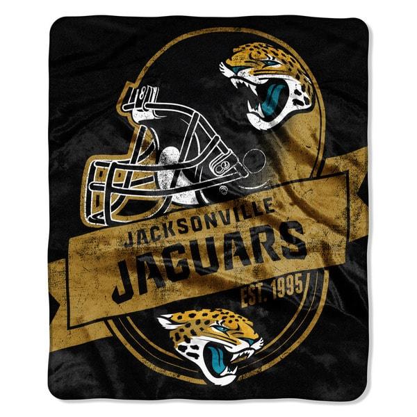 NFL 708 Jaguars Grand Stand Raschel Throw