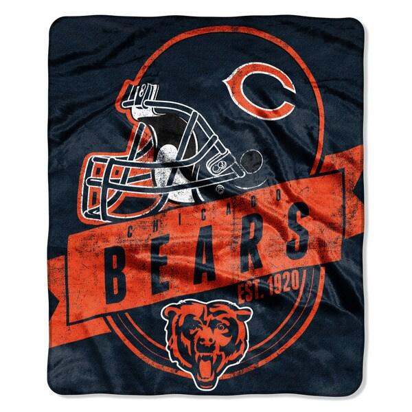 NFL 708 Bears Grand Stand Raschel Throw