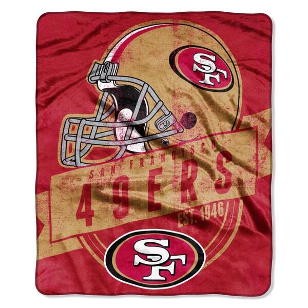 NFL 708 49ers Grand Stand Raschel Throw