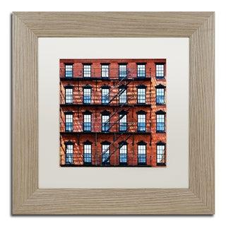 Philippe Hugonnard 'Brick Building' Matted Framed Art